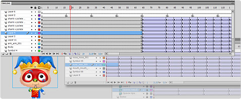 No limits on 2d animation timeline structure and nesting