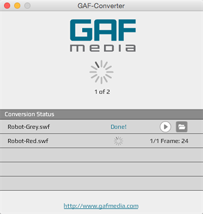 gaf standalone batch conversion